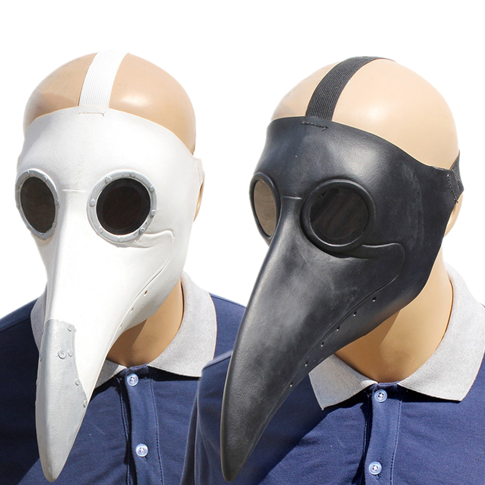 Plague Doctor Cosplay Costumes Steampunk Bird Mask Costume Fancy Dress Latex Masks Halloween Party