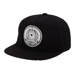 2019 New Fashion Round Label Triangle Eye Illuminati Snapback Caps Women Adjustable Baseball Cap Snapbacks Hip Hop Hats