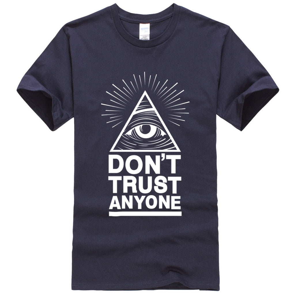 summer 2018 men's T-shirts Dont Trust Anyone Illuminati All Seeing Eye T-shirt letter pattern t shirt Harajuku suit tops tees