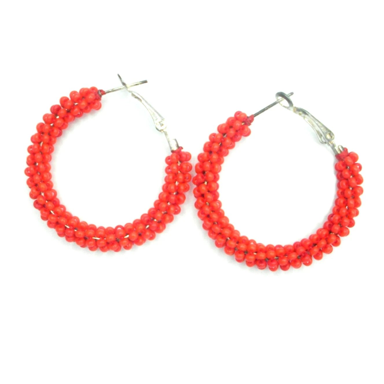 Becky: Cranberry Red Hoop Earrings - Kembra Collection™