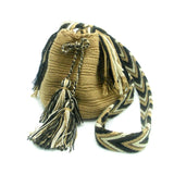 Caroline Brown Tan Dark Chocolate Wayuu Bag Side