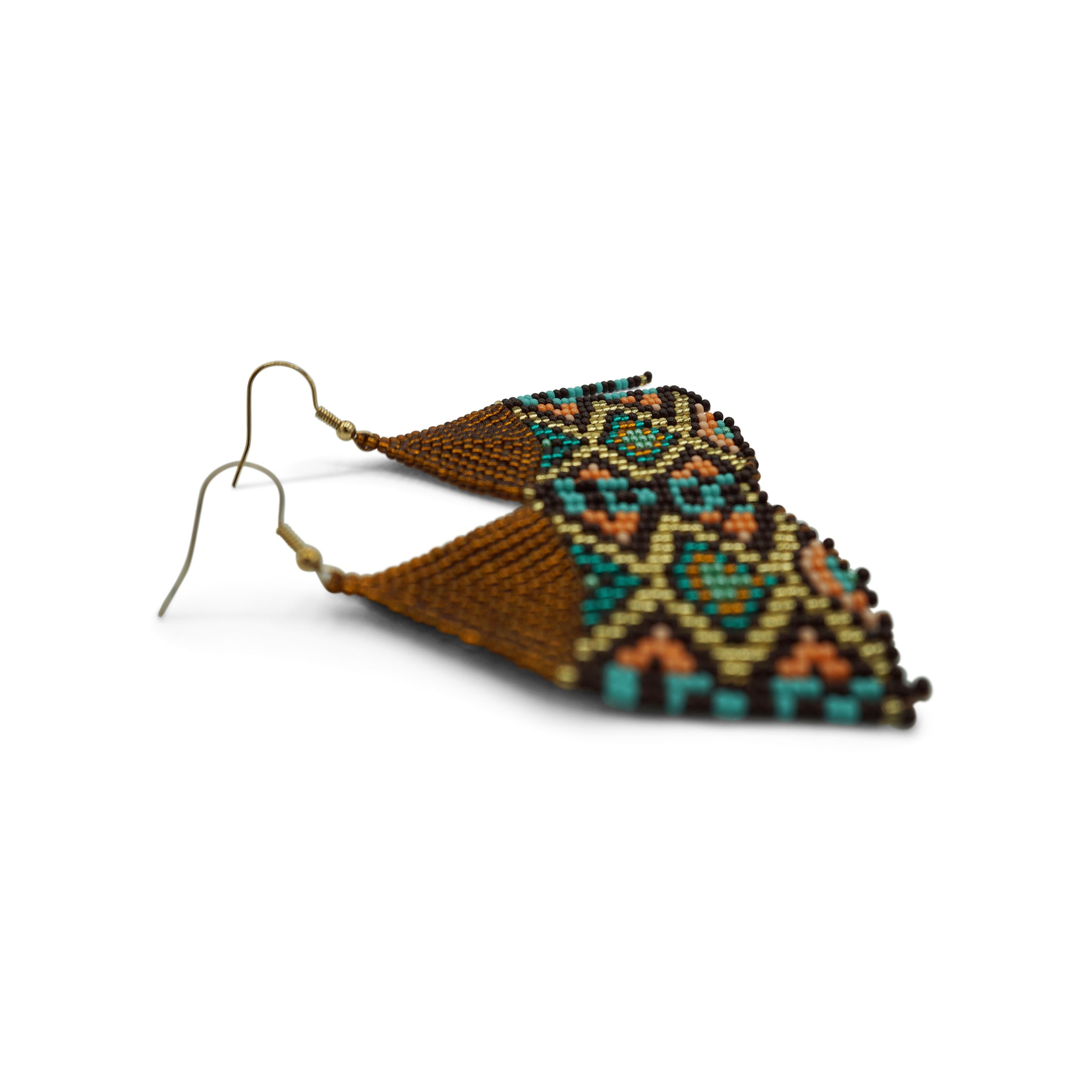 Elizabeth: Turquoise Black Bronze Chaquirra Earrings - Putumayo Collection™