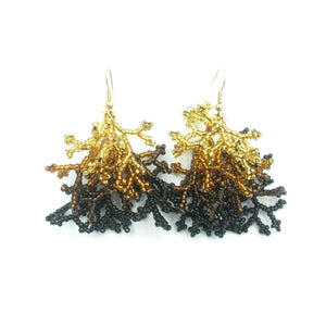 Emma: Black Gold Coral Earrings - Putumayo Collection™