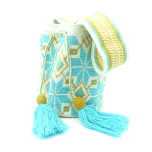 Jasmine Aqua Blue Wayuu Bag Main