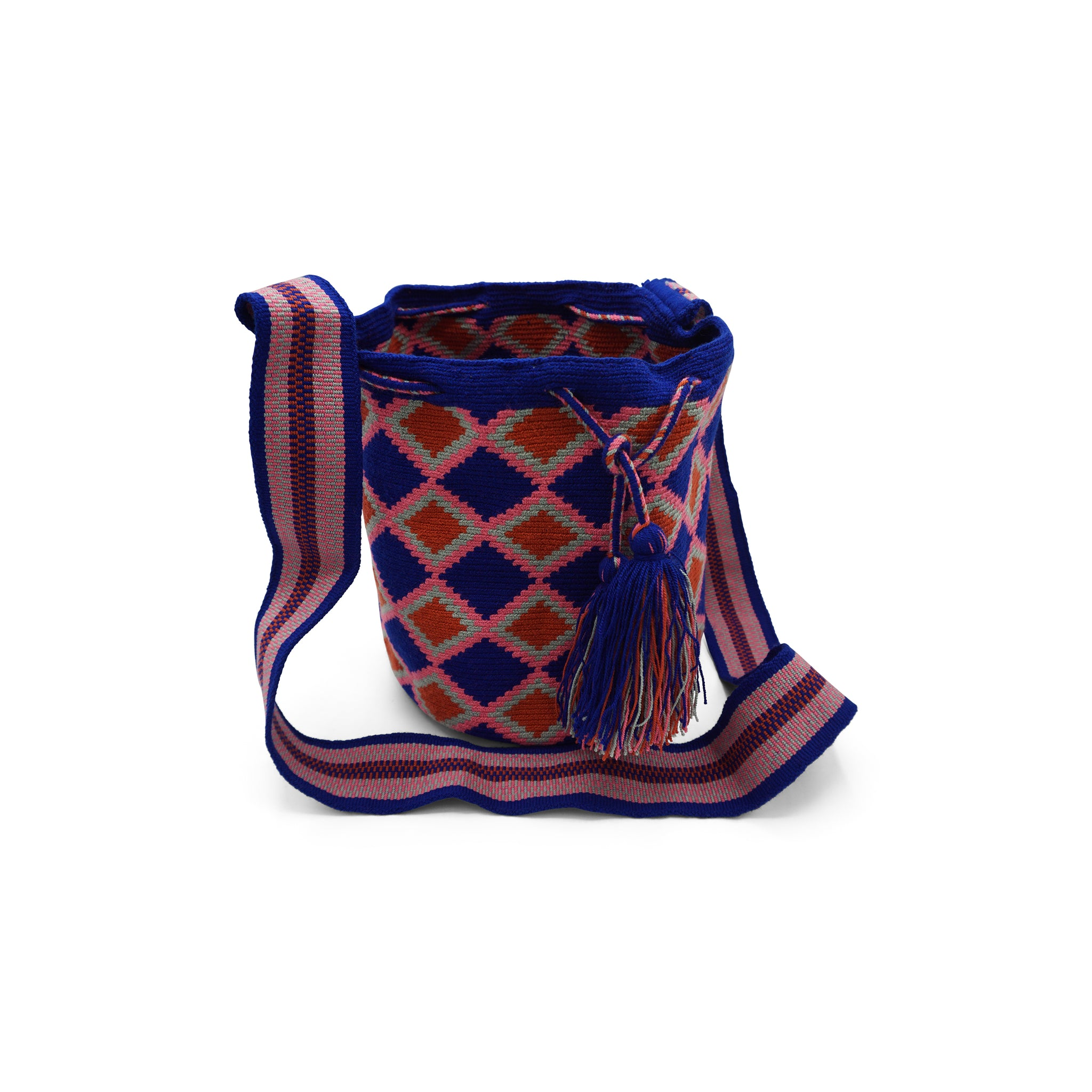 Lilly: Pink Blue Orange Wayuu Bag - Ares Collection™
