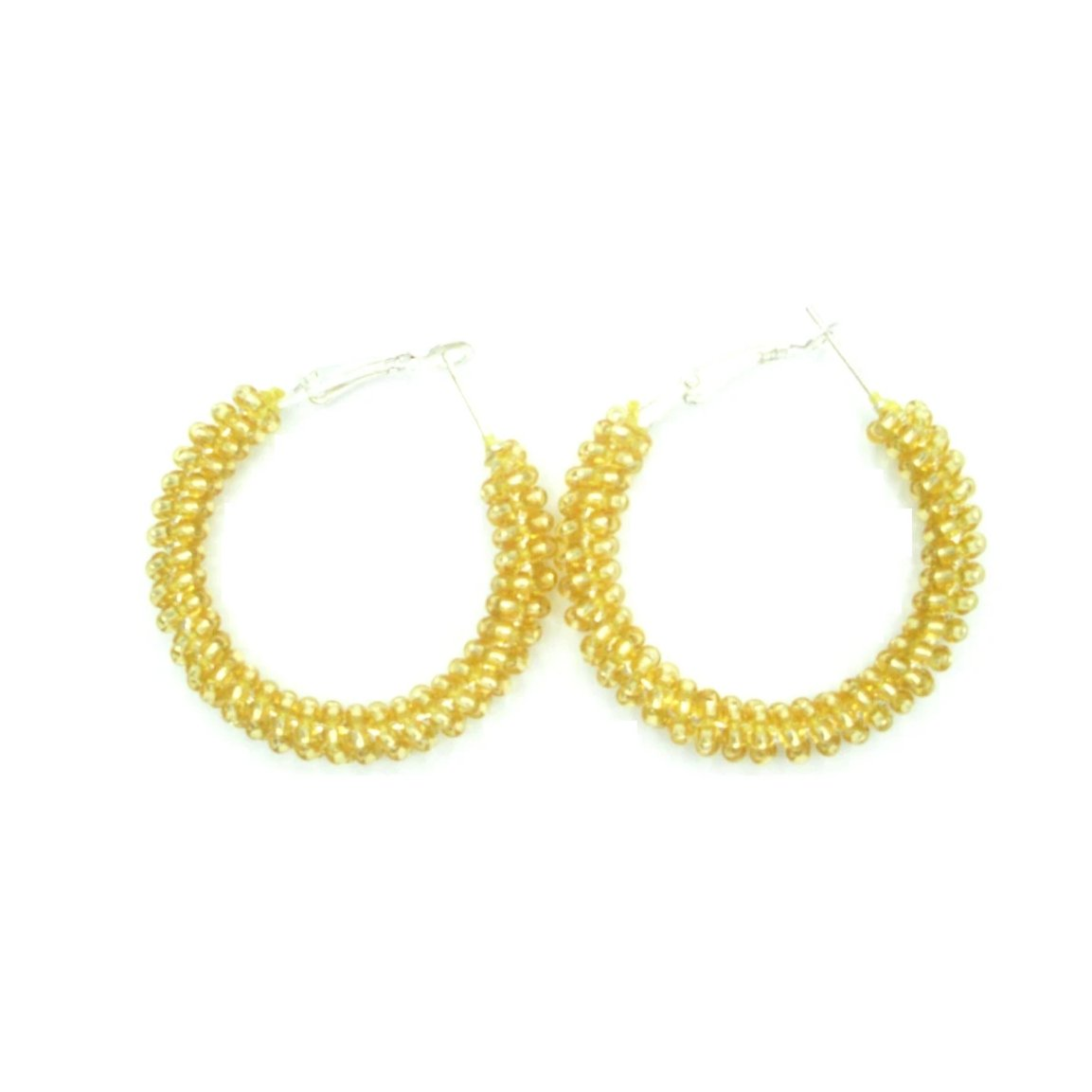 Lola Transparent Gold Hoop Earrings