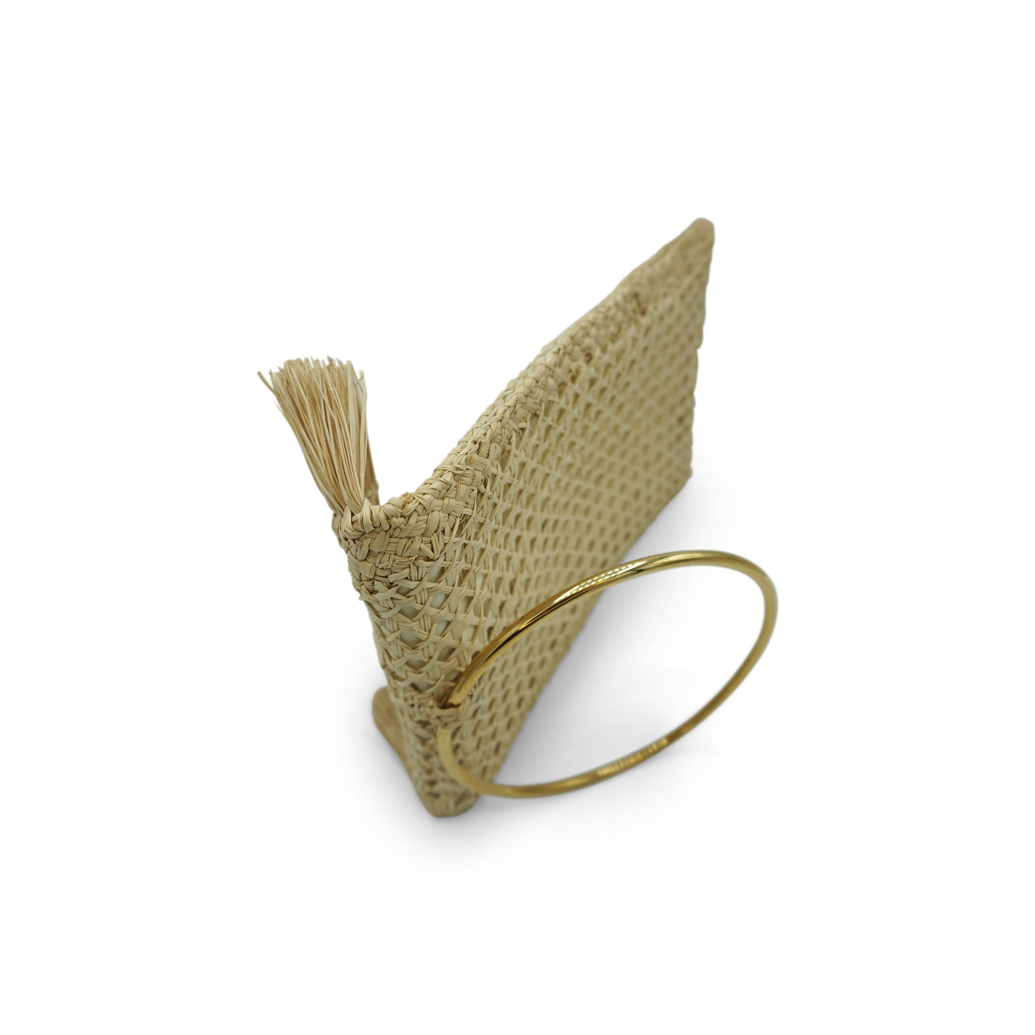 Margarita: Iraca Palm Brass Ring Clutch - Cartagena Collection™