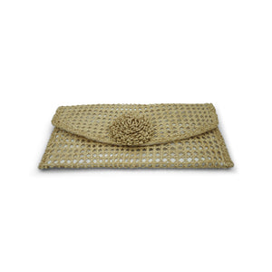 Rosemary: Iraca Palm Flower Clutch - Cartagena Collection™
