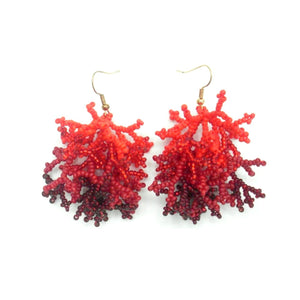 Rosanna Red Coral Earrings