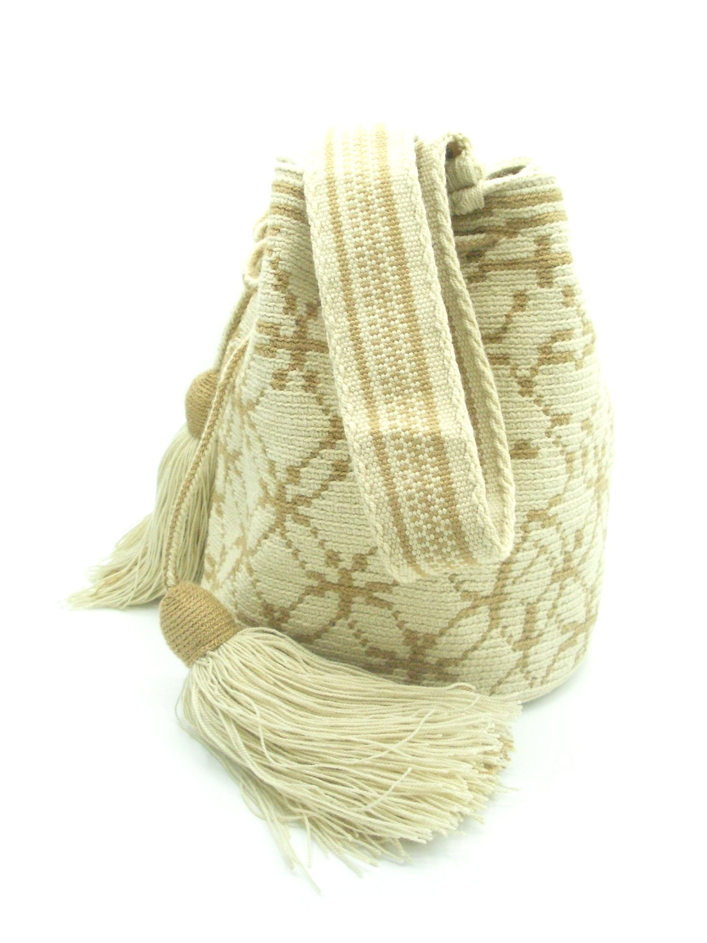 Sally Caramel Kakhi Wayuu Bag Side Straps