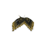 Stella: Black Gold Beaded Earrings - Kembra Collection™