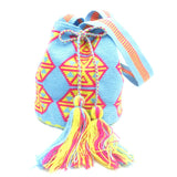 Teri Fuchsia Blue Yellow Wayuu Bag