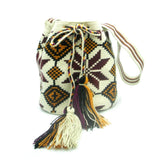 Virginia Maroon Orange White Wayuu Bag