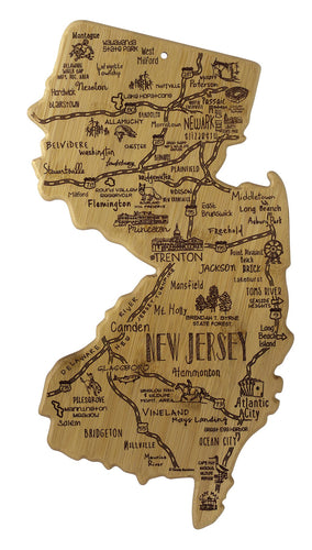 New Jersey Shaped Cutting Board