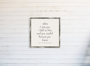 When I Saw You I Fell In Love Wall Art