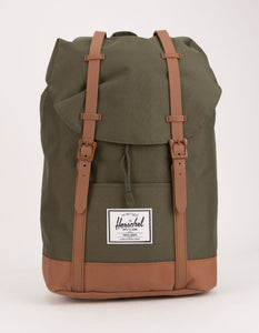 Herschel Backpack: Retreat Dark Olive & Saddle Brown