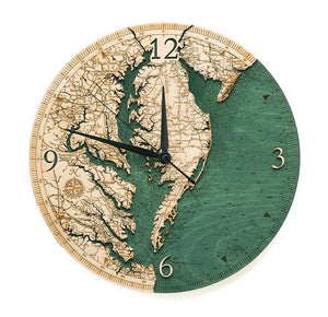 Wooden Clock: Chesapeake Bay