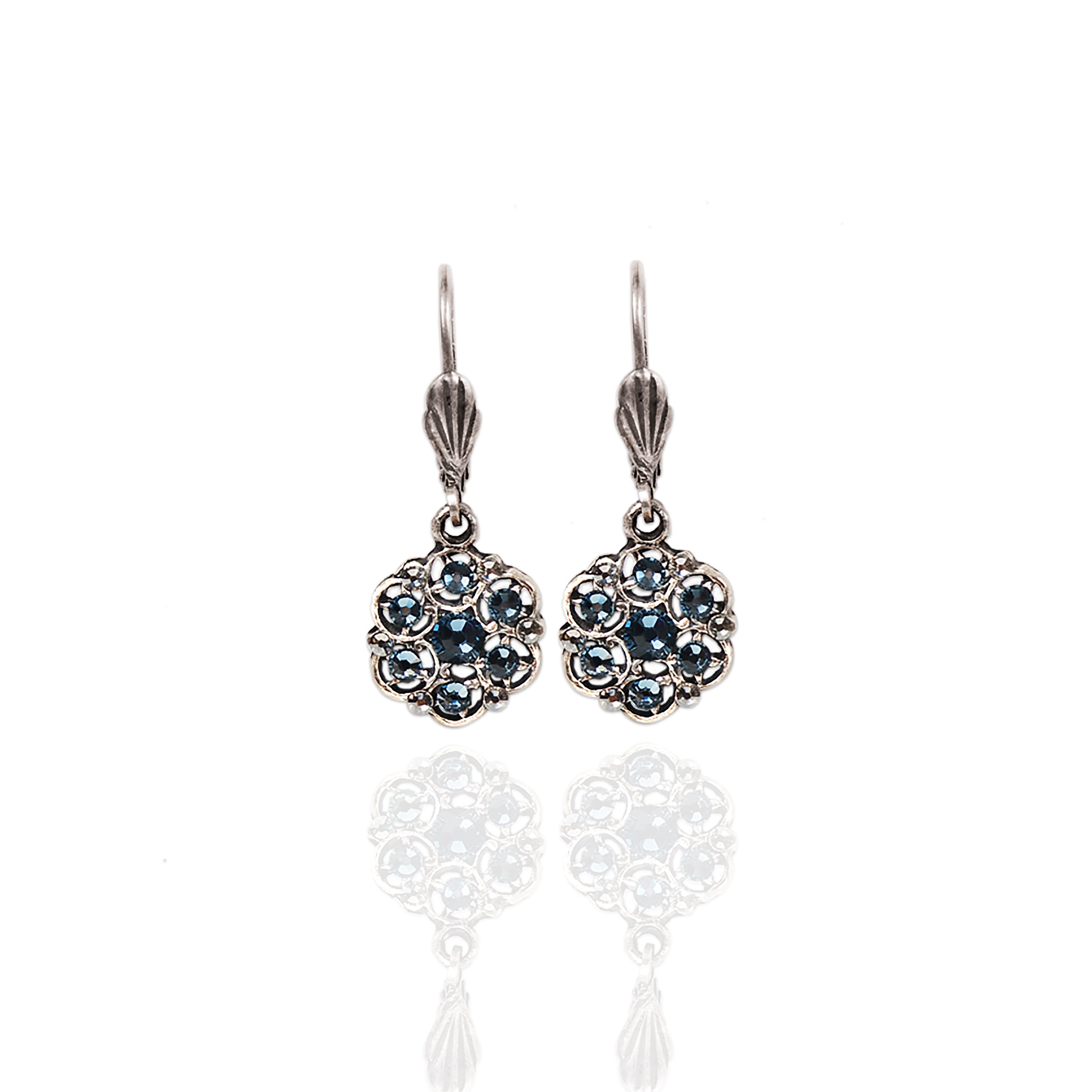 Art Deco Swarovski Crystal Earrings