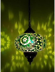 Hanging Mosaic Lamp 9""