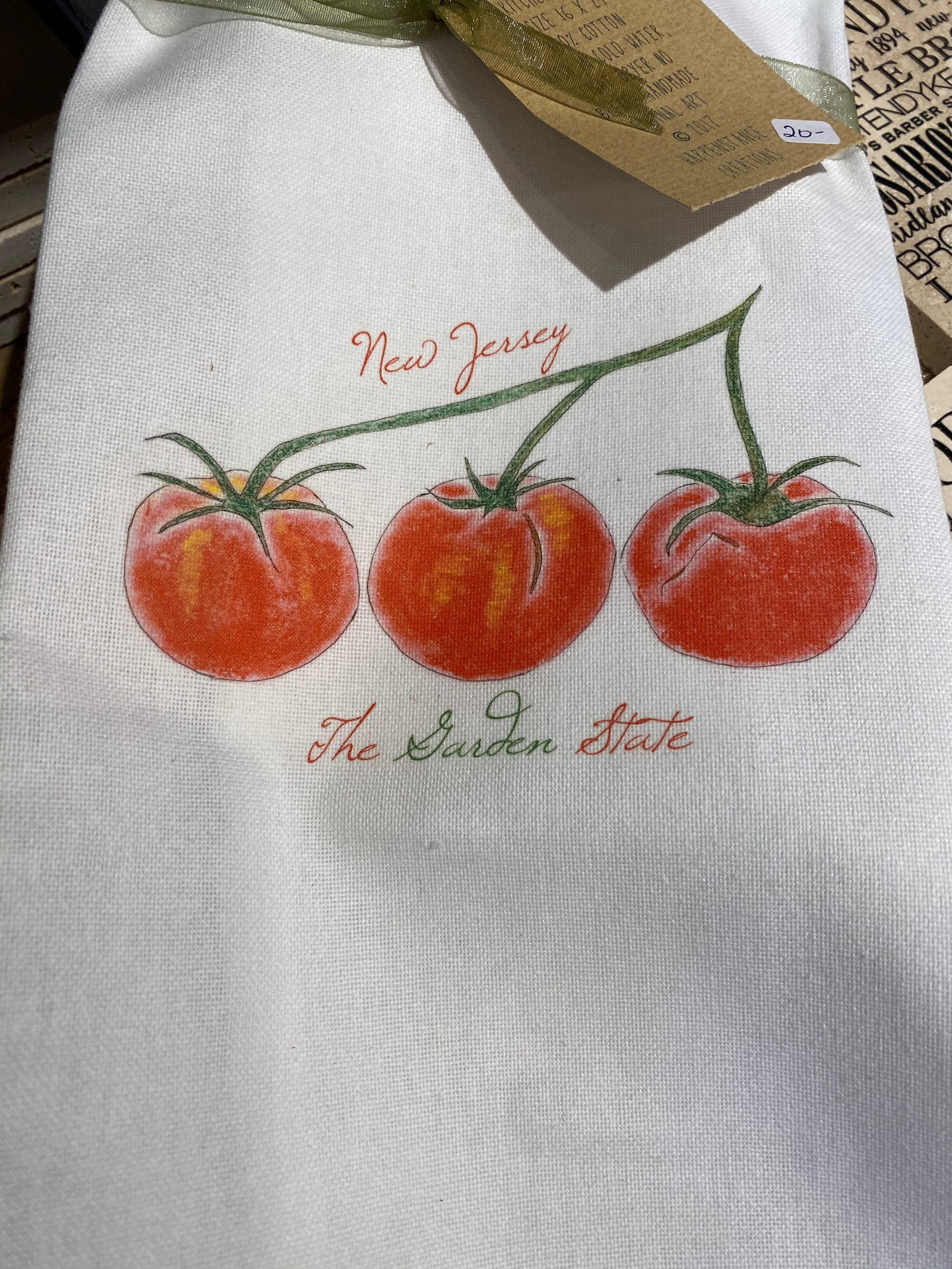 NJ The Garden State Dish Towel