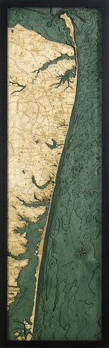 New Jersey: Nautical Wood Map: North Shore
