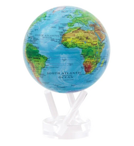 Mova Globe: Blue Relief Map