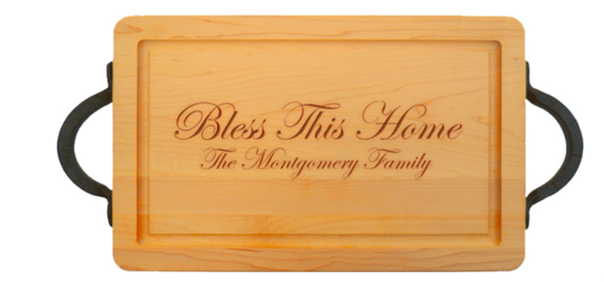 Maple 16 Inch Rectangle Personalized Cutting Board
