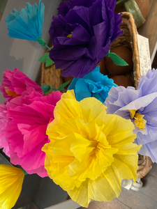 Crepe Paper Flowers With Surprises Inside