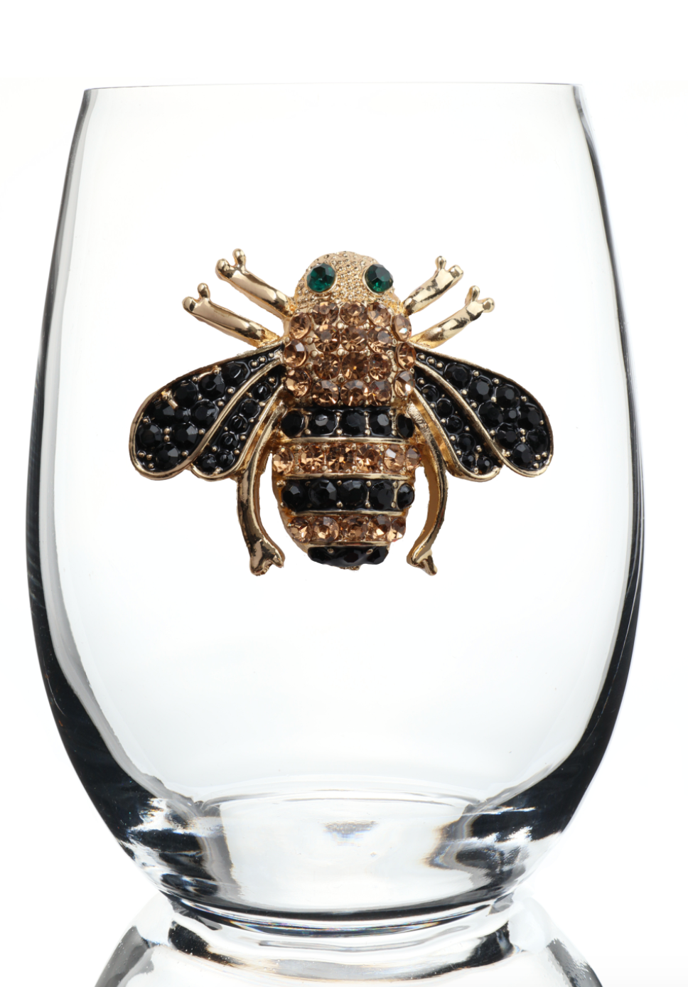 Bumble Bee Bedazzled Stemless Wine Glass