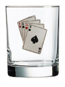 Playing Cards Jeweled Glassware