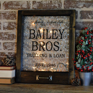 Bailey Brothers themed holiday window art