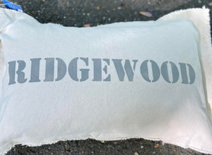 New Jersey Town Pillow