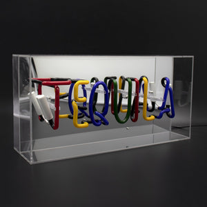 'Tequila' Acrylic Box Neon Light