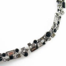 Load image into Gallery viewer, Patricia Locke Confetti Necklace in Silver, Black And White