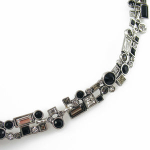Patricia Locke Confetti Necklace in Silver, Black And White