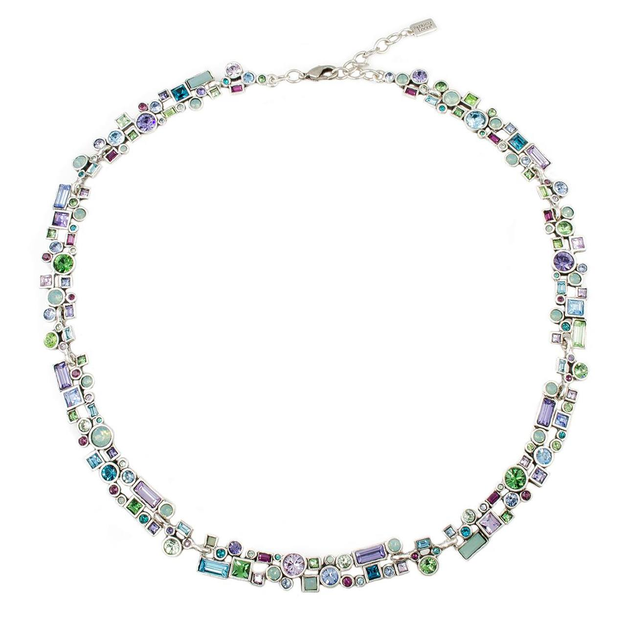 Patricia Locke Confetti Necklace in Silver, Waterlily