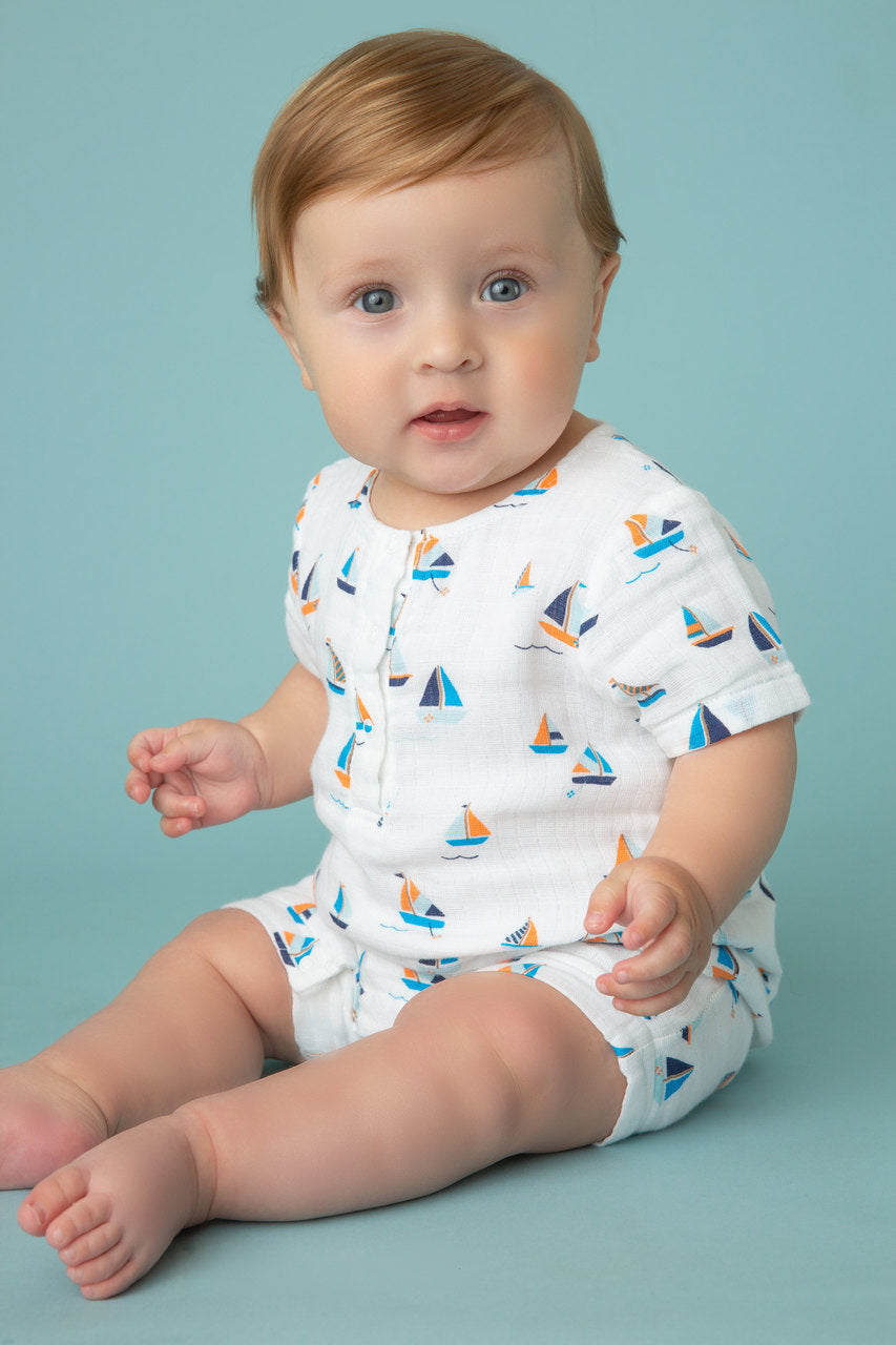 Simple Boats Romper