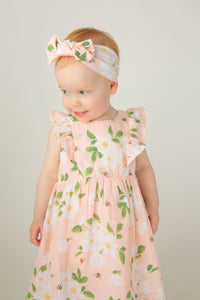 Ruffle Dress & Diaper Cover in Magnolias