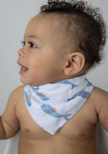 Load image into Gallery viewer, Bandana Bib in Baby Whales
