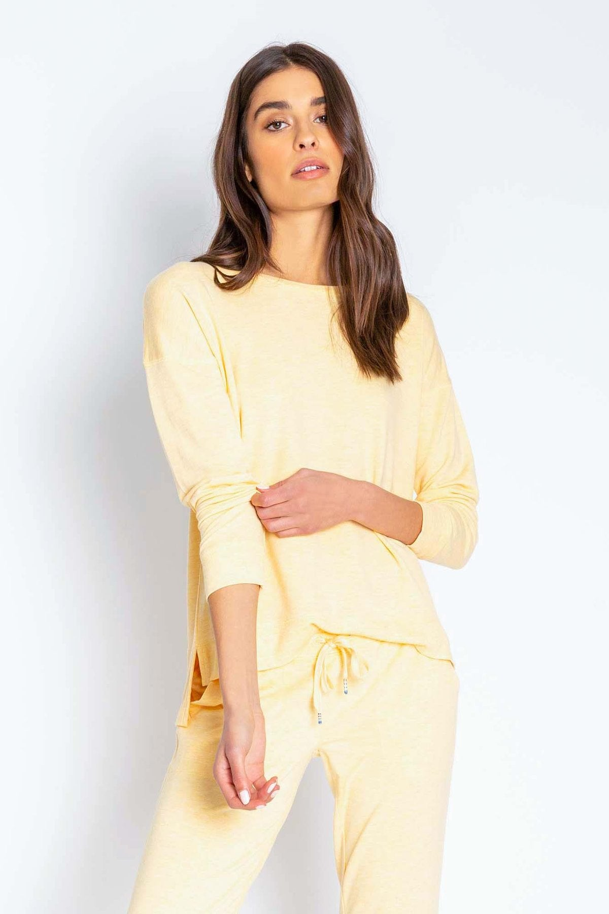 Lounge Essentials Long Sleeve Top- Sunshine