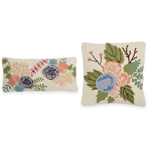 Floral Hooked Pillows