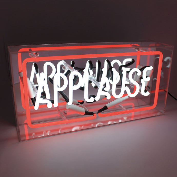 'Applause' Acrylic Box Neon Light