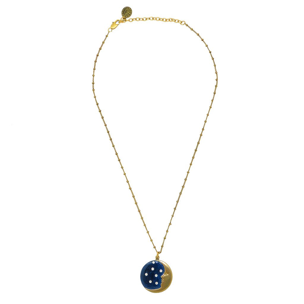 Moon & Stars Swarovski Necklace