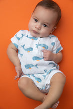 Load image into Gallery viewer, Baby Whales Romper