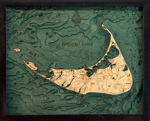 Massachusetts: Nautical Wood Map: Nantucket