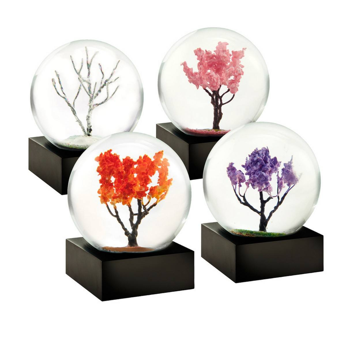 Mini Seasons Set of Four Snow Globes