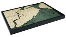Load image into Gallery viewer, New York: Nautical Wood Map: Staten Island