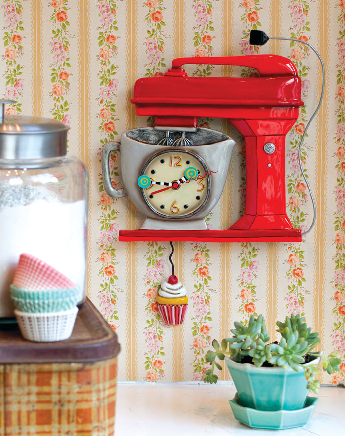 Whimsical Vintage Mixer Clock