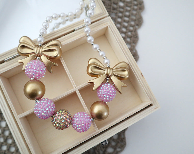 Bubblegum Bead Necklace | Lilac