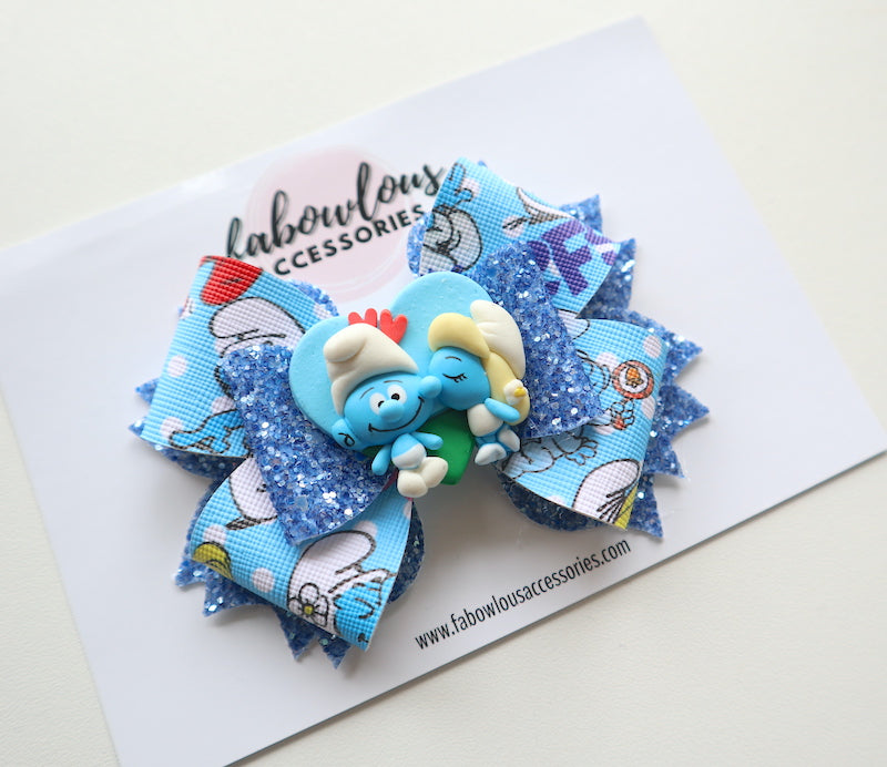 Smurfs Clay Bow